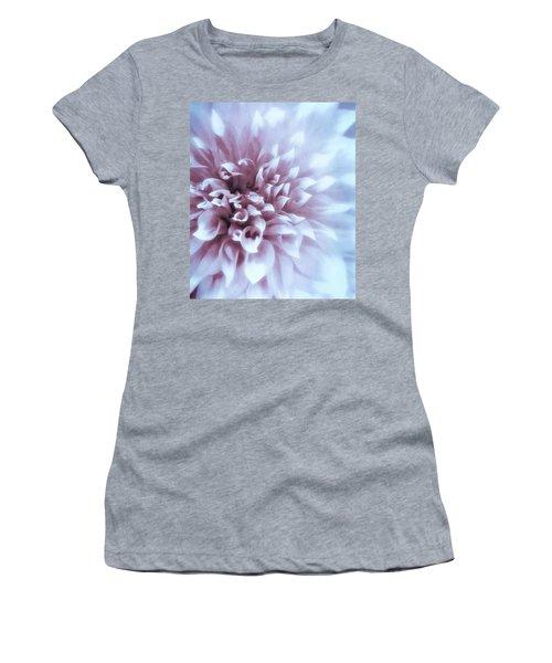 Pink And Blue Dahlia Women's T-Shirt