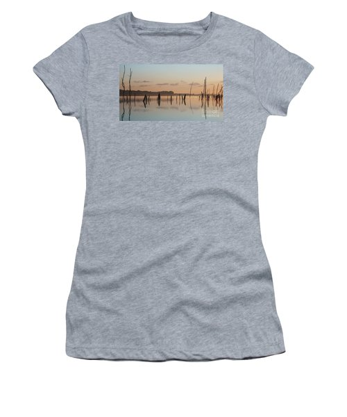 Pink And Blue Skies Women's T-Shirt (Athletic Fit)