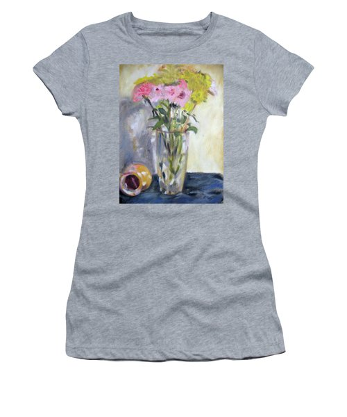 Pink And Yellow Flowers Women's T-Shirt (Athletic Fit)