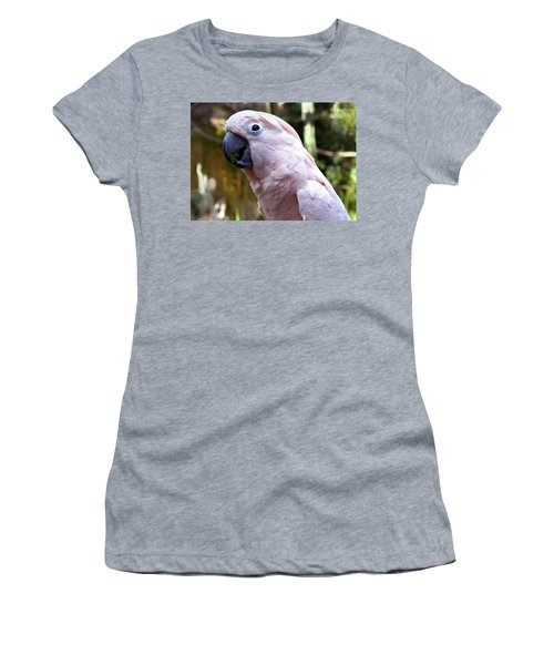 Pink Cockatoo Women's T-Shirt (Junior Cut) by Haleh Mahbod