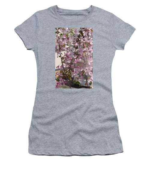 Pink Crabapple Branch Women's T-Shirt