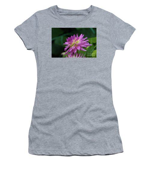 Pink Dahlia Women's T-Shirt (Athletic Fit)