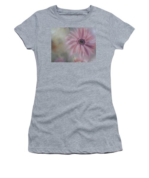 Women's T-Shirt (Junior Cut) featuring the painting Pink Daisies by Donna Tuten