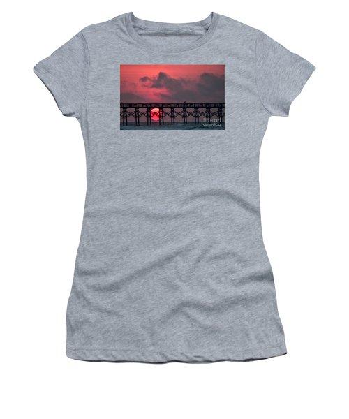 Pink Pier Sunrise Women's T-Shirt