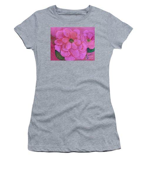 Pink Rose Flowers Women's T-Shirt