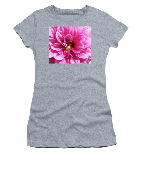 Pink Summer Flower Macro Women's T-Shirt