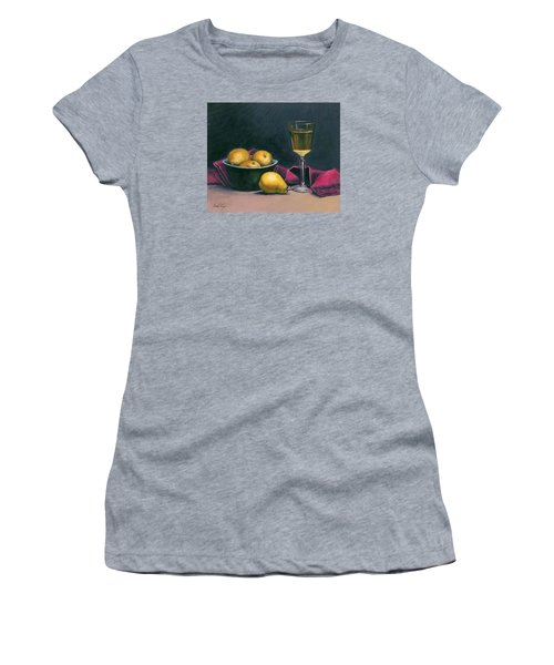 Women's T-Shirt (Junior Cut) featuring the painting Pinot And Pears Still Life by Janet King