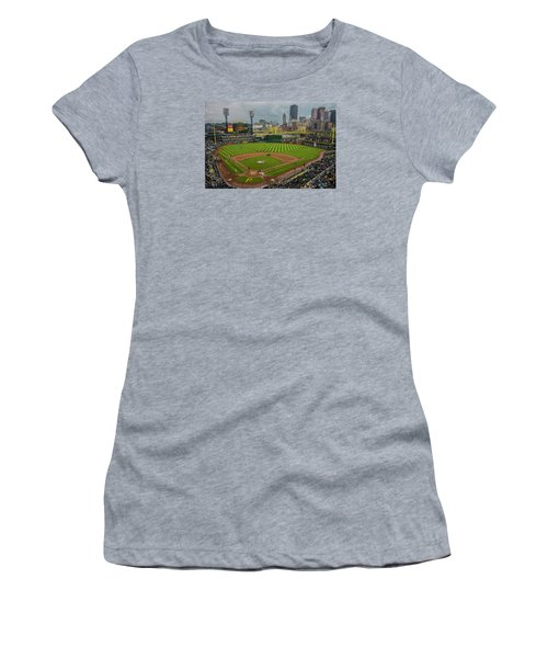 Pittsburgh Pirates Pnc Park 5569 Women's T-Shirt (Junior Cut) by David Haskett