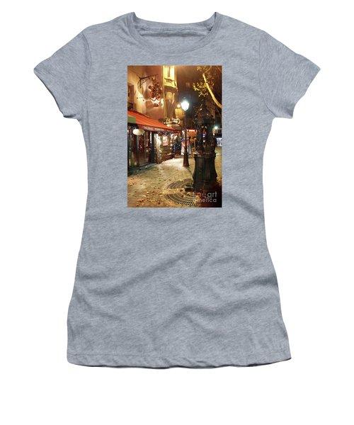 Place St Michel To Rue Saint-andre Des Arts Women's T-Shirt (Athletic Fit)