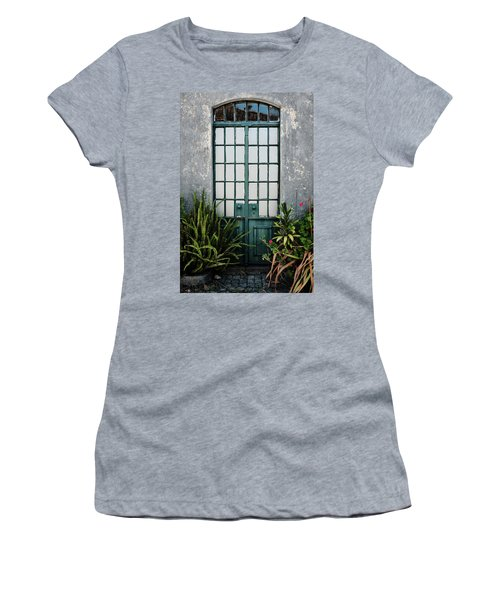 Women's T-Shirt (Junior Cut) featuring the photograph Plants In The Doorway by Marco Oliveira