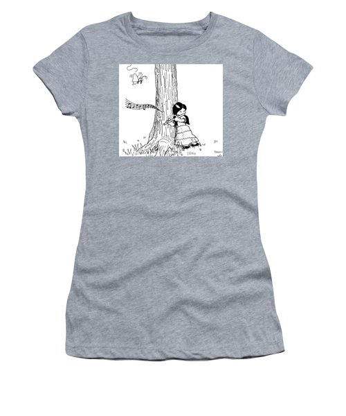 Play The Flute Under The Tree Women's T-Shirt