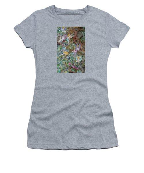 Playful Women's T-Shirt (Junior Cut) by Claudia Cole Meek