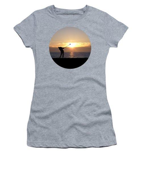 Playing Golf At Sunset Women's T-Shirt (Junior Cut) by Phil Perkins