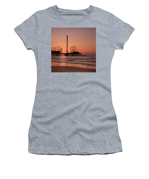 Women's T-Shirt featuring the photograph Pleasure Pier At Sunrise by James Woody