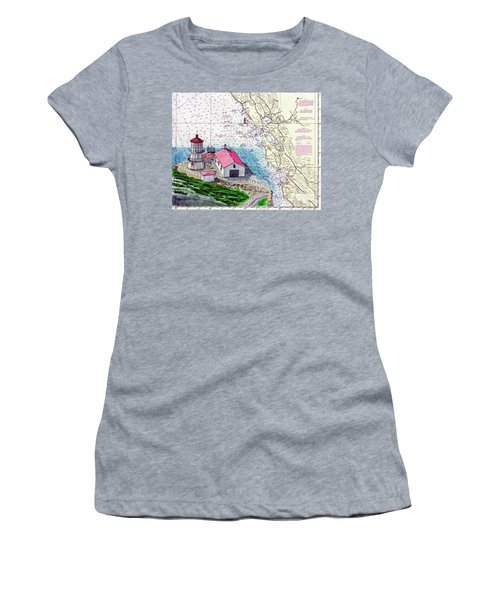 Point Reyes Light Station Women's T-Shirt (Junior Cut) by Mike Robles
