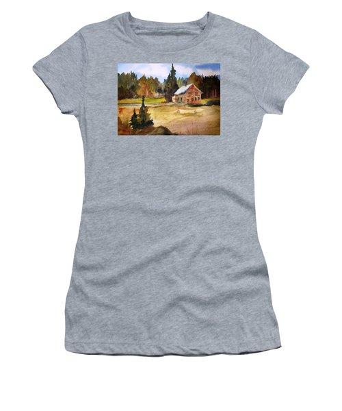 Polebridge Mt Cabin Women's T-Shirt (Athletic Fit)