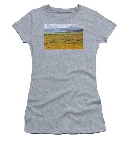 Poppies Field In Antelope Valley Women's T-Shirt