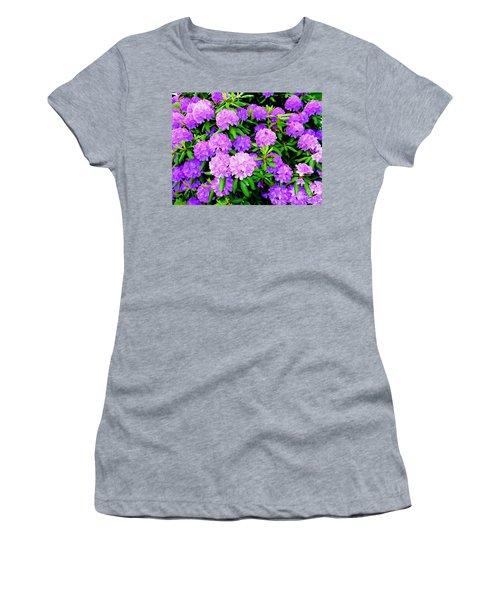 Pops Of Purple Women's T-Shirt (Athletic Fit)