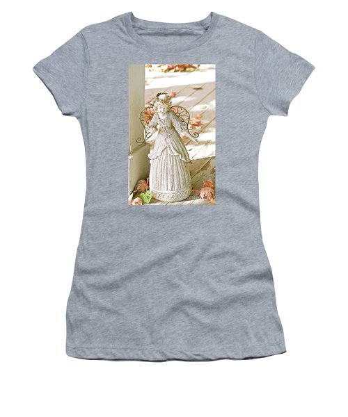 Porch Angel In The Fall Women's T-Shirt