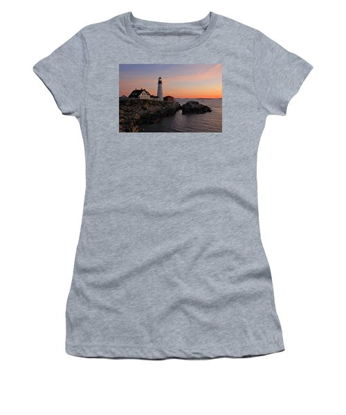 Portland Head Lighthouse Women's T-Shirt (Athletic Fit)