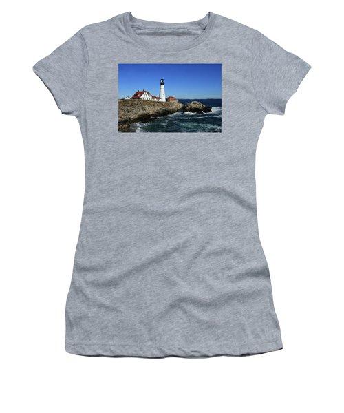Portland Head Lighthouse Women's T-Shirt (Athletic Fit)
