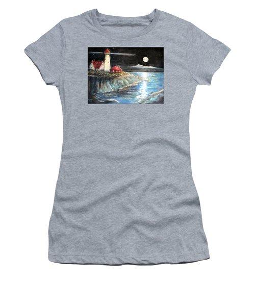 Portland Maine Twilight Women's T-Shirt (Junior Cut) by Bernadette Krupa