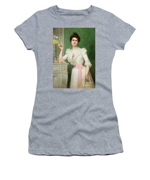 Portrait Of A Lady Holding A Fan Women's T-Shirt