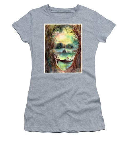 Portrait With A Boat Women's T-Shirt