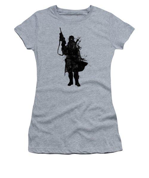 Women's T-Shirt (Junior Cut) featuring the digital art Post Apocalyptic Warrior by Nicklas Gustafsson