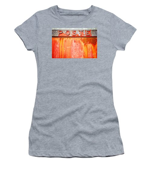 Poste Italian Weathered Mailbox Women's T-Shirt (Athletic Fit)