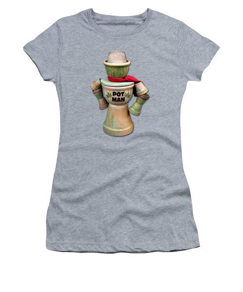 Pot Man T-shirt Women's T-Shirt (Junior Cut) by Bob Slitzan