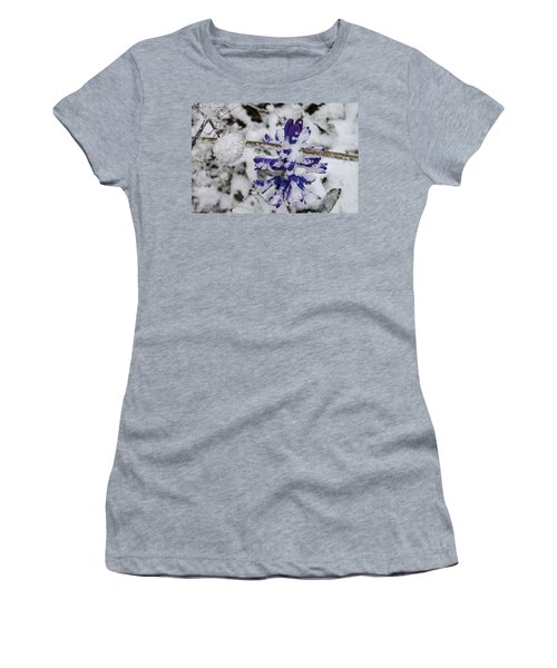 Powder-covered Hyacinth Women's T-Shirt (Junior Cut) by Deborah Smolinske