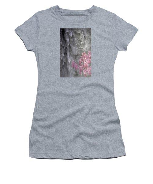 Women's T-Shirt (Junior Cut) featuring the photograph Powerful And Gentle Waterfall Art  by Valerie Garner