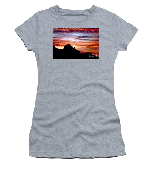 Praying Monk, Camelback Mountain, Phoenix Arizona Women's T-Shirt (Athletic Fit)