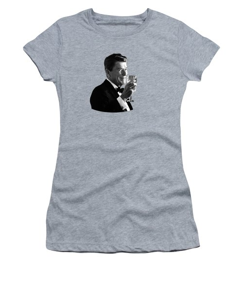 President Reagan Making A Toast Women's T-Shirt (Athletic Fit)