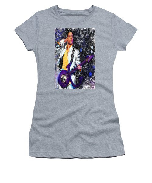 Prince - Tribute With Guitar Women's T-Shirt (Athletic Fit)
