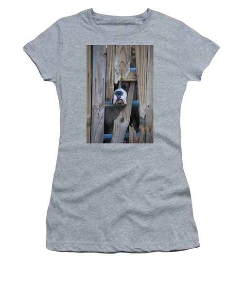 Psst Help Me Outta Here Women's T-Shirt (Junior Cut) by DigiArt Diaries by Vicky B Fuller