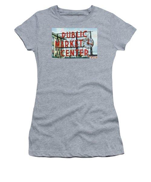 Public Market Center Women's T-Shirt (Athletic Fit)