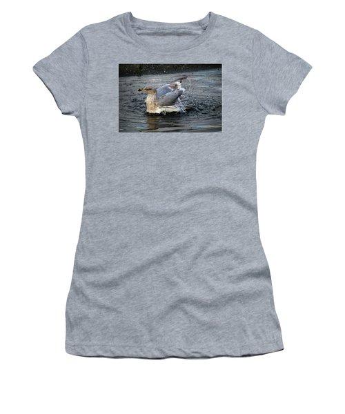 Puddle Bath Women's T-Shirt (Athletic Fit)