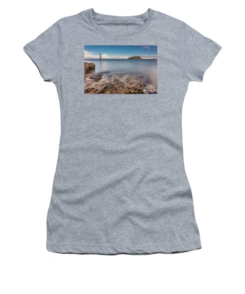 Puffin Island Lighthouse  Women's T-Shirt (Athletic Fit)