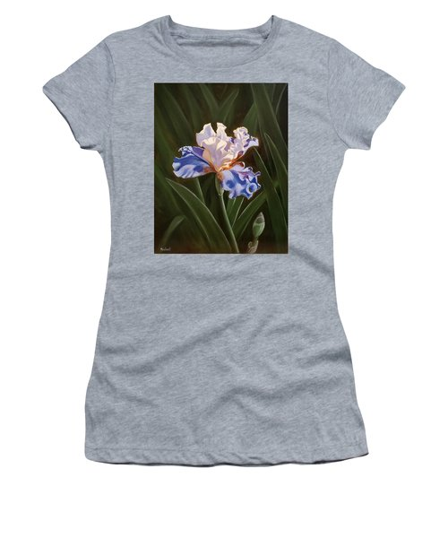Purple And White Iris Women's T-Shirt (Athletic Fit)