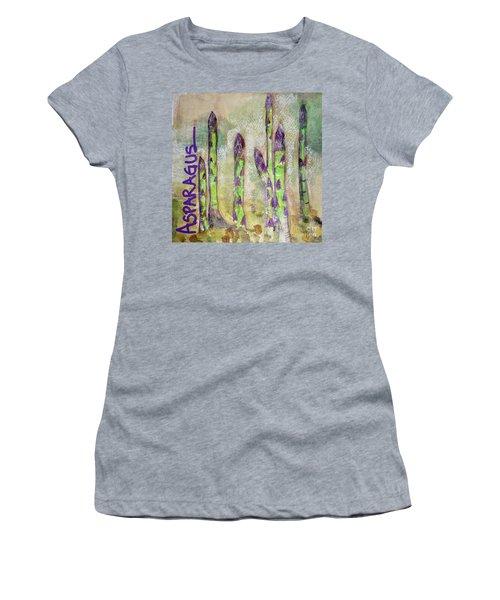 Purple Asparagus Women's T-Shirt (Junior Cut) by Kim Nelson