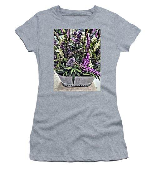 Purple Flowers In Bloom Women's T-Shirt