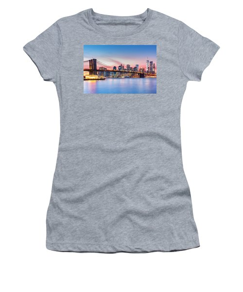 Purple Nyc Sunset Women's T-Shirt