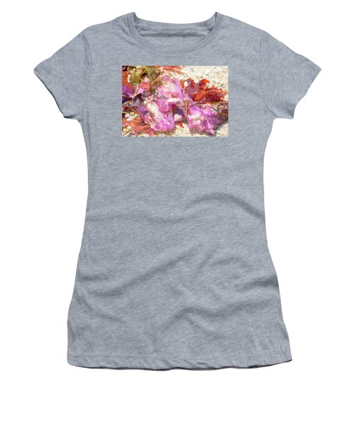 Purple Seaweed In Pacific Grove Women's T-Shirt (Athletic Fit)