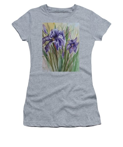 Purple Times 3 Women's T-Shirt (Athletic Fit)