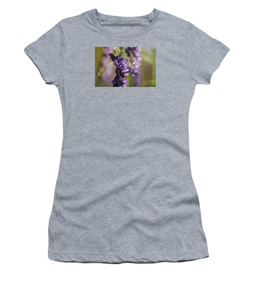 Women's T-Shirt (Junior Cut) featuring the photograph Purple Wildflowers by JT Lewis