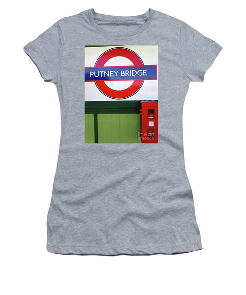 Women's T-Shirt (Athletic Fit) featuring the photograph Putney Bridge by Rebecca Harman
