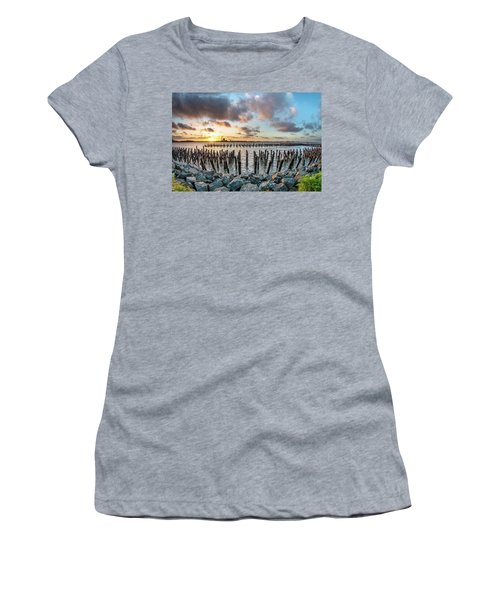 Pylons Mill Sunset Women's T-Shirt (Junior Cut) by Greg Nyquist