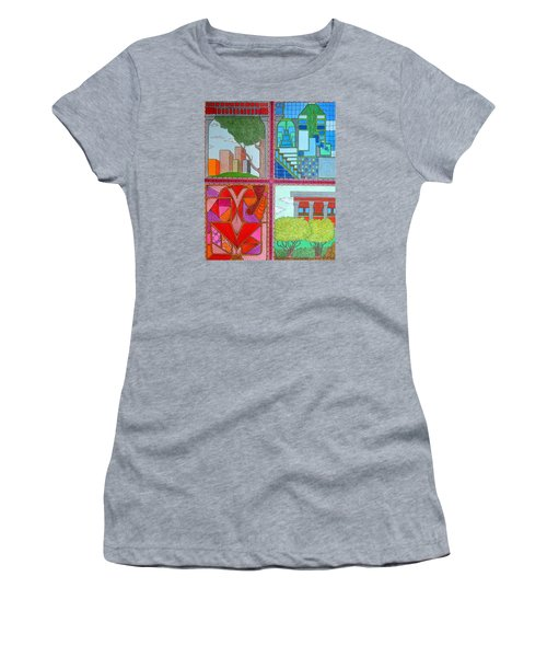 Quadrants Women's T-Shirt (Athletic Fit)